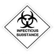 Hazard safety sign - Infectious Substance 043